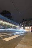 Светлый кабель автомобиля в городе Стоковая Фотография