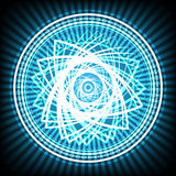 Светлый конспект круга на голубой иллюстрации вектора предпосылки стоковое фото rf