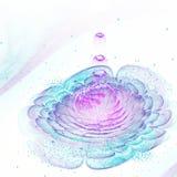 Светлый красочный цветок фрактали с цветнем Стоковые Фотографии RF