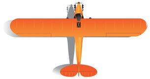 Светлый одномоторный самолет иллюстрация вектора