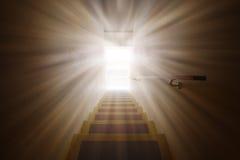 Светлый пирофакел на двери к будущему бесплатная иллюстрация