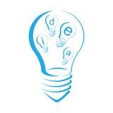 Светлый символ идеи Стоковые Фото