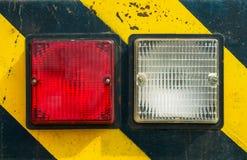 Светлый символ опасности Стоковая Фотография