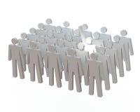 Светлый спуск на волонтерах Стоковое Изображение