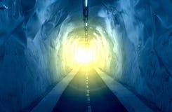 светлый тоннель Стоковые Фото