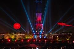 Светлый фестиваль 2014 в Москве Стоковое Изображение RF