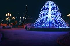 Светлый фонтан Стоковые Изображения