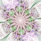 Светлый цветок фрактали Стоковое Фото