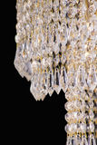 Свет люстры в интерьере, конце-вверх люстры Chrystal кристаллическая часть от люстры, люстры, освещения, оборудования, роскошь, Стоковое Изображение RF