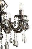 Свет люстры в интерьере, конце-вверх люстры Chrystal кристаллическая часть от люстры, люстры, освещения, оборудования, роскошь, Стоковые Фотографии RF