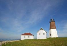 Свет Юдифь пункта на побережье Род-Айленда Стоковые Фото