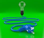 свет electroplug кабеля шарика Стоковые Фото