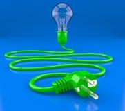 свет electroplug кабеля шарика Стоковые Изображения