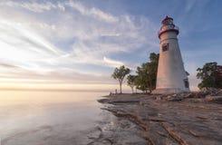 Свет Marblehead [Огайо, Соединенные Штаты] стоковые изображения rf