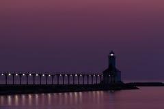 Свет Pierhead города Мичигана восточный стоковое изображение