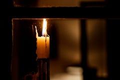 Свеча в окне Стоковое Изображение RF
