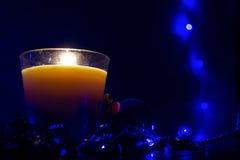 Свеча в стекле Стоковая Фотография