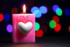 Свеча влюбленности Стоковое Фото