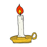 свеча горения шаржа Стоковые Фото