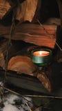 Свеча зимы Стоковые Изображения RF