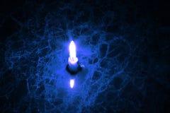 Свеча на мраморе Стоковые Фотографии RF