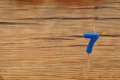 Свеча дня рождения на деревянной предпосылке Стоковые Фотографии RF