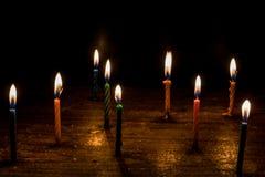 Свеча дня рождения Стоковые Изображения RF