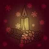 Свеча рождества вектора Стоковая Фотография RF