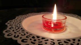 Свеча рождества в ноче Стоковое фото RF