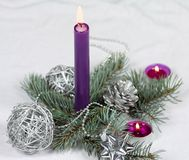 Свеча рождества Стоковые Изображения
