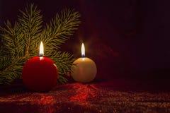 Свеча рождества Стоковая Фотография RF