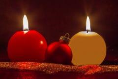 Свеча рождества Стоковая Фотография