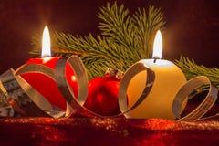 Свеча рождества Стоковое фото RF