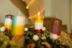 Свеча рождества Стоковое Изображение