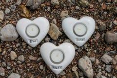 Свеча сердца стоковое изображение rf