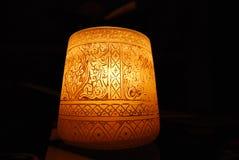 Свеча с картинами на темной предпосылке Стоковое фото RF