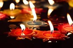 Свеча с розами в виске Стоковые Фото