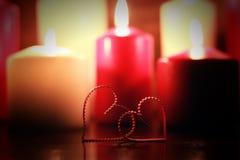 Свеча формы влюбленности Стоковая Фотография