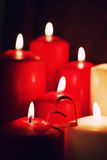 Свеча формы сердца влюбленности Стоковое фото RF