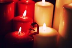 Свеча формы сердца влюбленности Стоковая Фотография RF