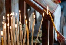 Свеча церков Стоковые Фото