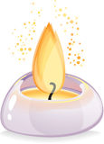 Свеча Tealight над белой предпосылкой Стоковая Фотография RF