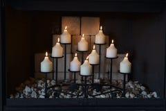 10 свечей Стоковые Фото