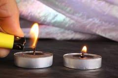 Свечи дальше Стоковые Фотографии RF