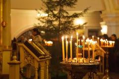 Свечи воска православной церков церков Стоковое Фото