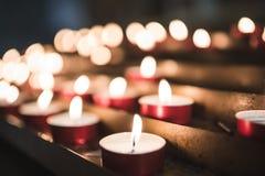 Свечи в итальянской церков Стоковое Изображение