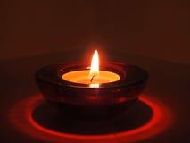 Свечи в прозрачных люстрах Стоковые Фотографии RF