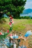 Свечи в стеклянных лампах Украшения свадьбы Wedding в Monteneg Стоковые Изображения RF