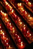 Свечи в темноте Стоковые Фото