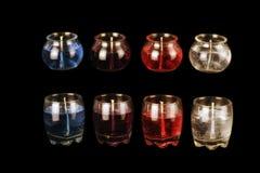 Свечи геля в черноте Стоковые Изображения RF